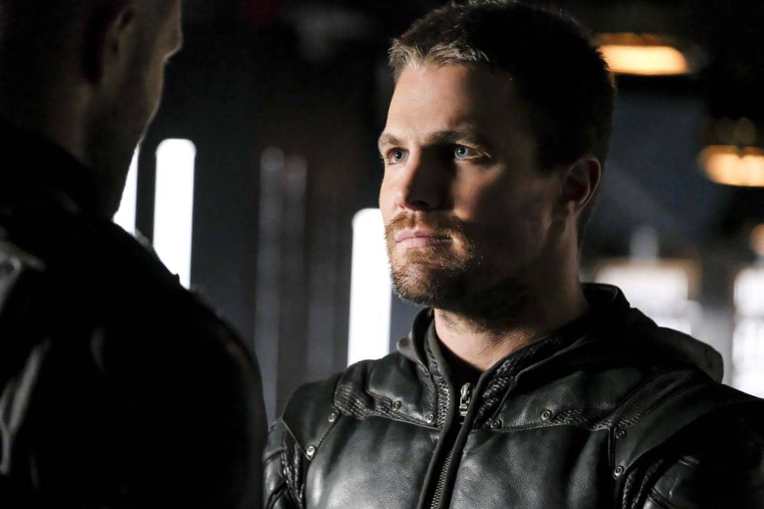 "Arrow -- ""All for Nothing"" -- Image Number: AR612a_0290.jpg -- Pictured: Stephen Amell as Oliver Queen/Green Arrow -- Photo: Bettina Strauss/The CW -- © 2018 The CW Network, LLC. All rights Reserved."