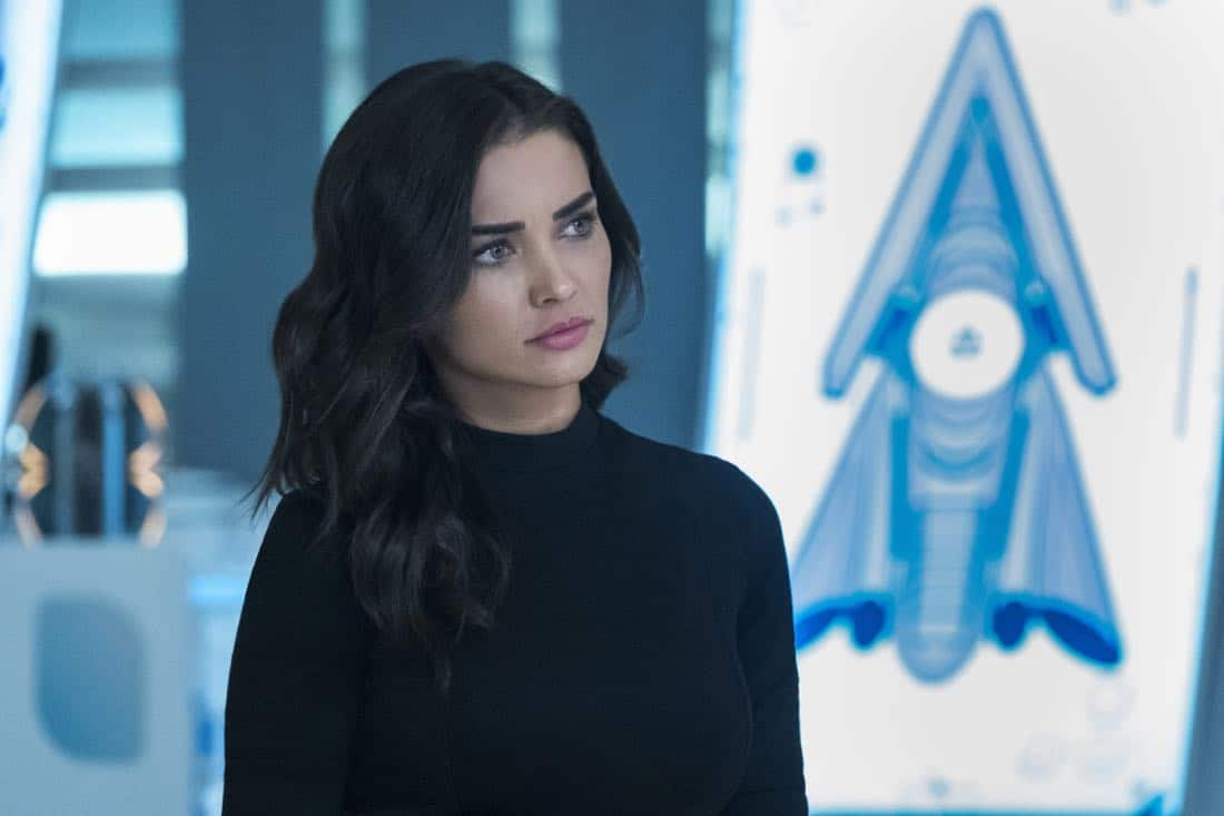 """Supergirl -- """"Both Sides Now"""" -- Image Number: SPG313a_0269.jpg -- Pictured: Amy Jackson as Imra Ardeen/Saturn Girl -- Photo: Katie Yu/The CW -- © 2018 The CW Network, LLC. All Rights Reserved."""