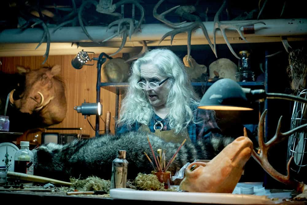"CHANNEL ZERO: BUTCHER'S BLOCK -- ""Insidious Onset"" Episode 301 -- Pictured: Krisha Fairchild as Louise Lispector -- (Photo by: Allen Fraser/Syfy)"