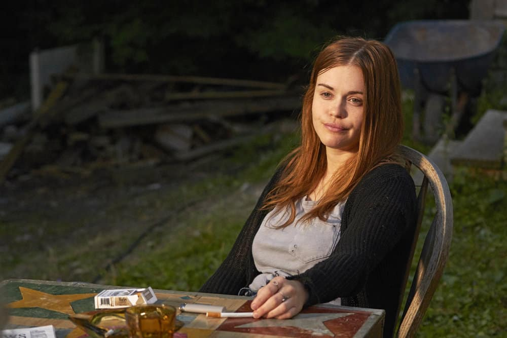 "CHANNEL ZERO: BUTCHER'S BLOCK -- ""Insidious Onset"" Episode 301 -- Pictured: Holland Roden as Zoe Woods -- (Photo by: Allen Fraser/Syfy)"
