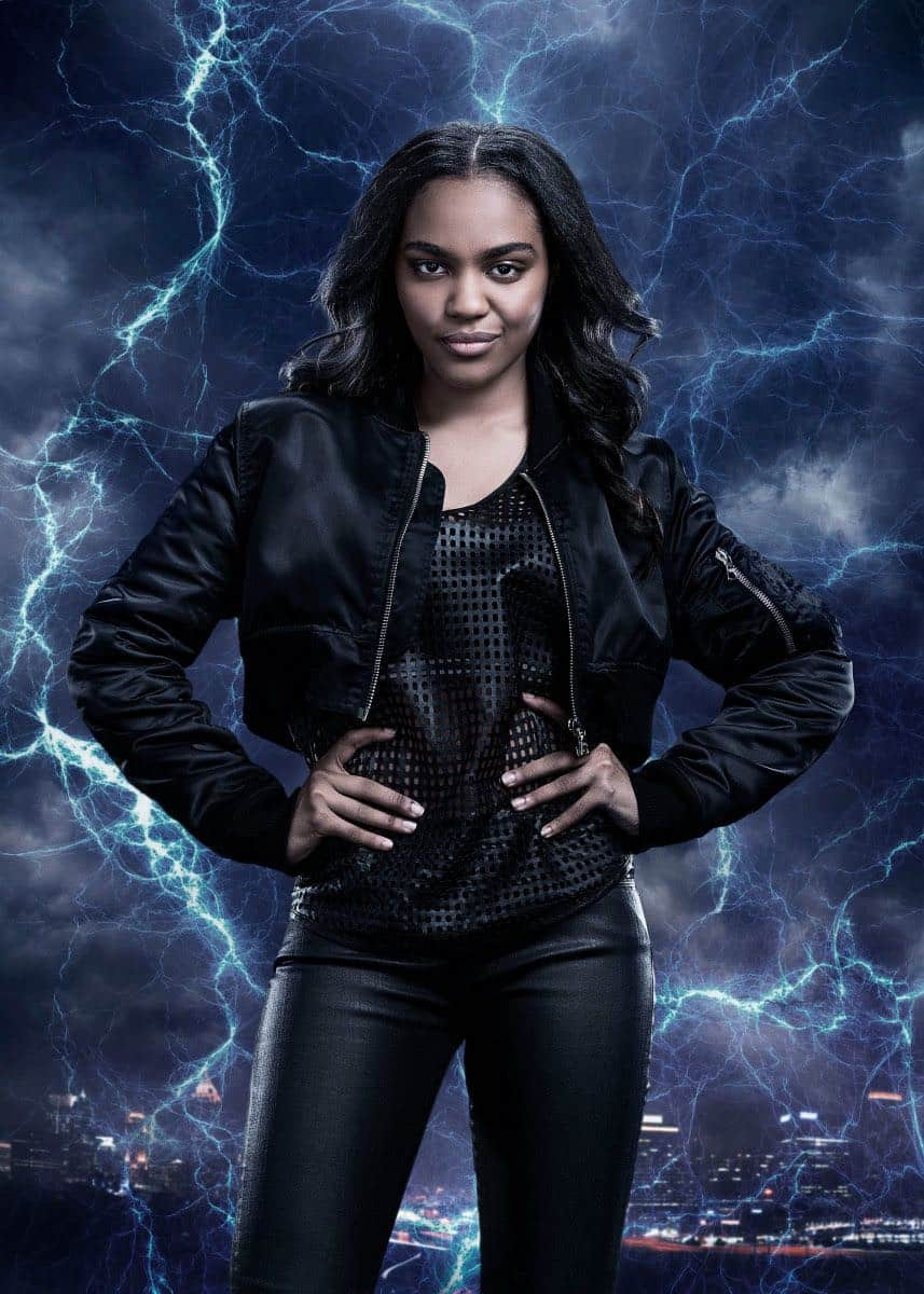 Black Lightning -- Image BLK_SINGLES_JENNIFER.jpg -- Pictured: China Anne McClain as Jennifer Pierce -- Photo: Marc Hom/The CW -- © 2018 The CW Network, LLC. All rights reserved