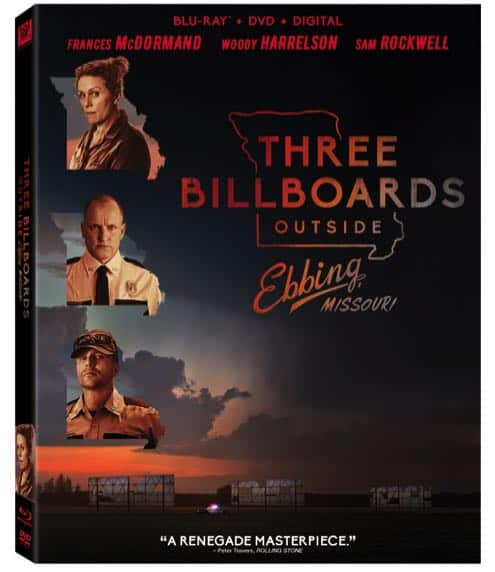 THREE BILLBOARDS OUTSIDE EBBING MISSOURI BLURAY DVD