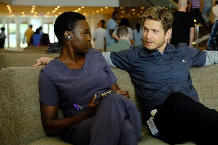 "THE RESIDENT:  L-R:  Shaunette Renée Wilson and Matt Czuchry in the ""Identity Crisis"" episode of THE RESIDENT airing Monday, Feb. 5 (8:00-9:00 PM ET/PT) on FOX.  ©2018 Fox Broadcasting Co.  Cr:  Guy D'Alema/FOX"
