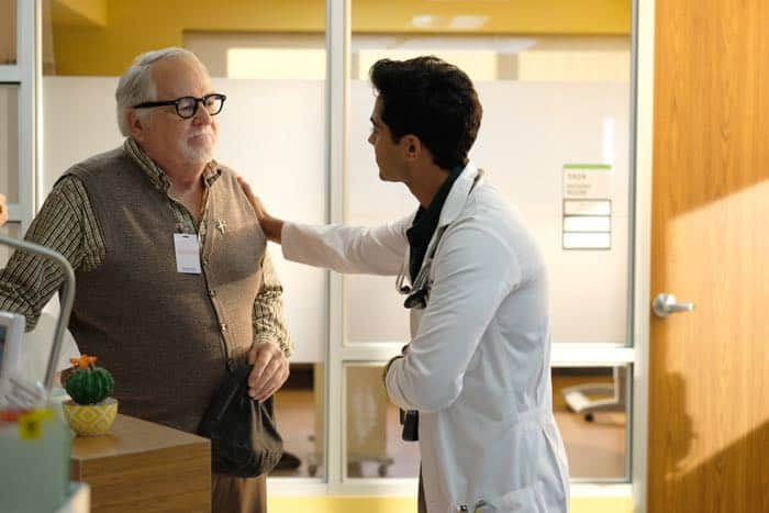 "THE RESIDENT:  L-R:  Guest star Dakin Matthews and Manish Dayal in the ""Identity Crisis"" episode of THE RESIDENT airing Monday, Feb. 5 (8:00-9:00 PM ET/PT) on FOX.  ©2018 Fox Broadcasting Co.  Cr:  Guy D'Alema/FOX"