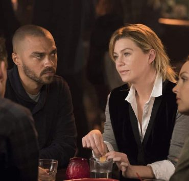 "GREYS ANATOMY - ""Harder, Better, Faster, Stronger"" - April is in charge of the new Grey Sloan Surgical Innovation Contest, and the doctors are eager to start their projects. Meanwhile, Catherine's old friend has a shocking idea for Catherine and Jackson; and Meredith treats a returning patient who inspires her project, on ""Grey's Anatomy,"" THURSDAY, FEB. 8 (8:00-9:00 p.m. EST), on The ABC Television Network. (ABC/Mitch Haaseth) JESSE WILLIAMS, ELLEN POMPEO, CAMILLA LUDDINGTON"