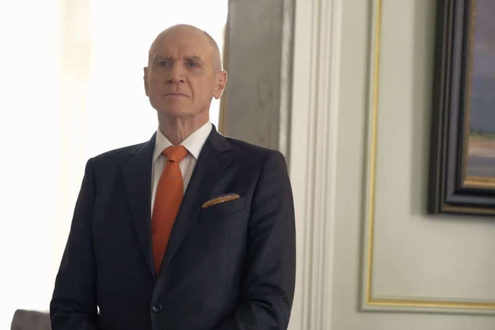"Dynasty -- ""Nothing But Trouble"" -- Image Number: DYN113a_0196b.jpg -- Pictured: Alan Dale as Anders -- Photo: Mark Hill/The CW -- © 2018 The CW Network, LLC. All Rights Reserved."