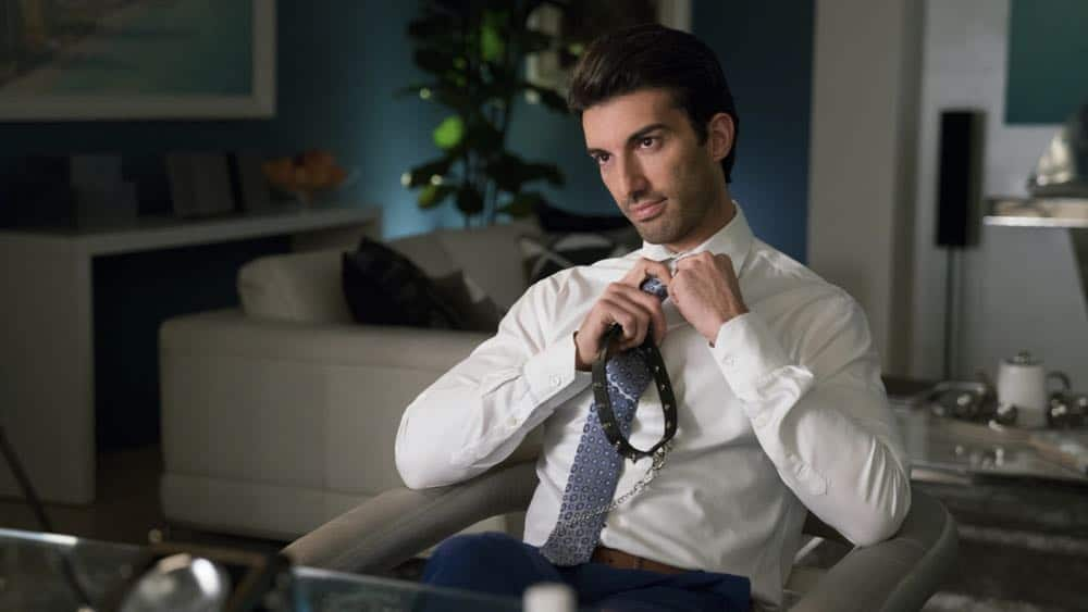 "Jane The Virgin -- ""Chapter Seventy-Three"" -- Image Number: JAV409b_0008.jpg -- Pictured : Justin Baldoni as Rafael -- Photo: Michael Desmond/The CW -- © 2018 The CW Network, LLC. All Rights Reserved."
