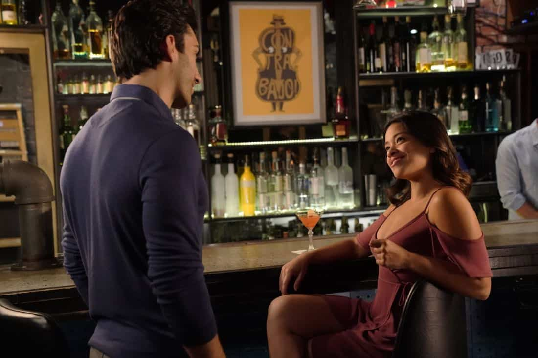 "Jane The Virgin -- ""Chapter Seventy-Four"" -- Image Number: JAV410c_0579.jpg -- Pictured (L-R): Justin Baldoni as Rafael and Gina Rodriguez as Jane -- Photo: Lisa Rose/The CW -- © 2018 The CW Network, LLC. All Rights Reserved."