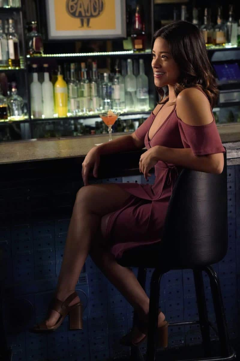 "Jane The Virgin -- ""Chapter Seventy-Four"" -- Image Number: JAV410c_0596.jpg -- Pictured: Gina Rodriguez as Jane -- Photo: Greg Gayne/The CW -- © 2018 The CW Network, LLC. All Rights Reserved."