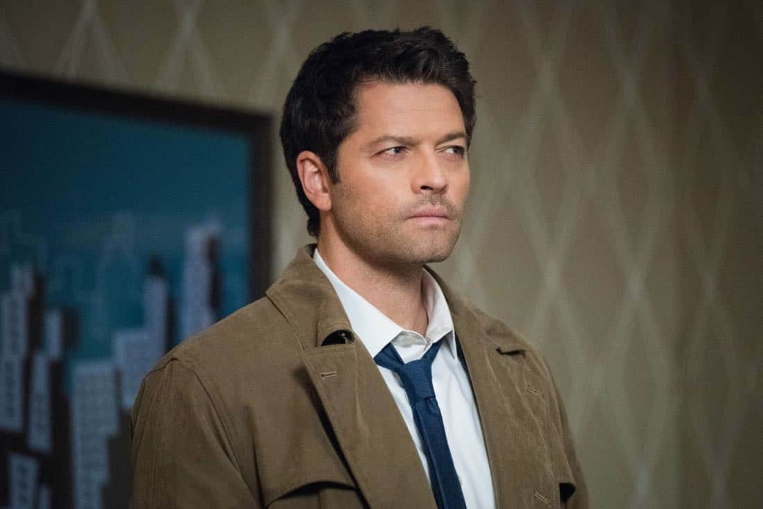 """Supernatural -- """"Devil's Bargain"""" -- Image Number: SN1313a_0144b.jpg -- Pictured: Misha Collins as Castiel -- Photo: Dean Buscher/The CW -- © 2018 The CW Network, LLC All Rights Reserved"""