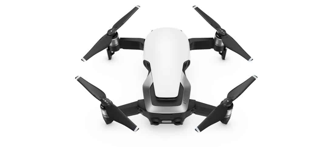 Mavic Air Arctic White white background