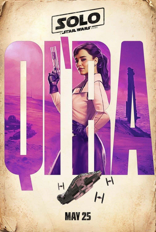 Solo A Star Wars Story Emilia Clarke Qi'Ra Poster