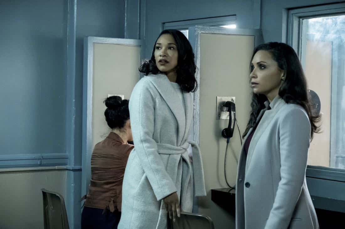"""The Flash -- """"True Colors"""" -- Image Number: FLA413a_0012b.jpg -- Pictured (L-R): Candice Patton as Iris West and Danielle Nicolet as Cecile Horton -- Photo: Katie Yu/The CW -- © 2018 The CW Network, LLC. All rights reserved"""