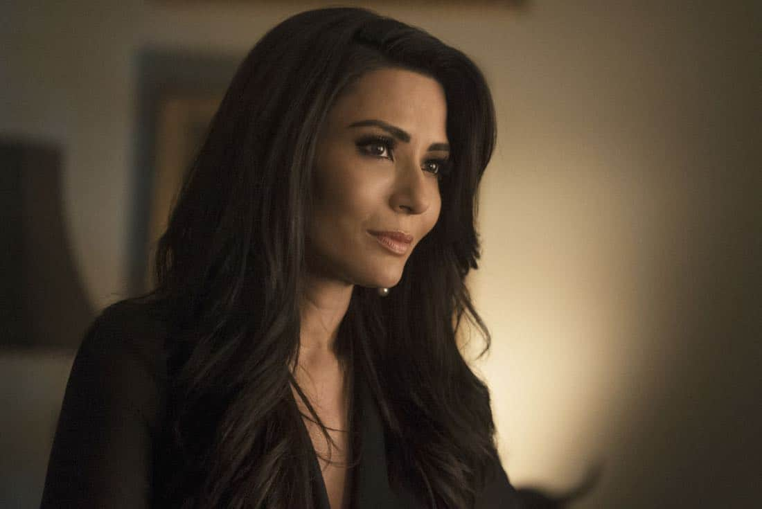 """Riverdale -- """"Chapter Twenty-Six: The Tell-Tale Heart"""" -- Image Number: RVD213b_0023.jpg -- Pictured: Marisol Nichols as Hermione -- Photo: Katie Yu/The CW -- © 2018 The CW Network, LLC. All Rights Reserved."""