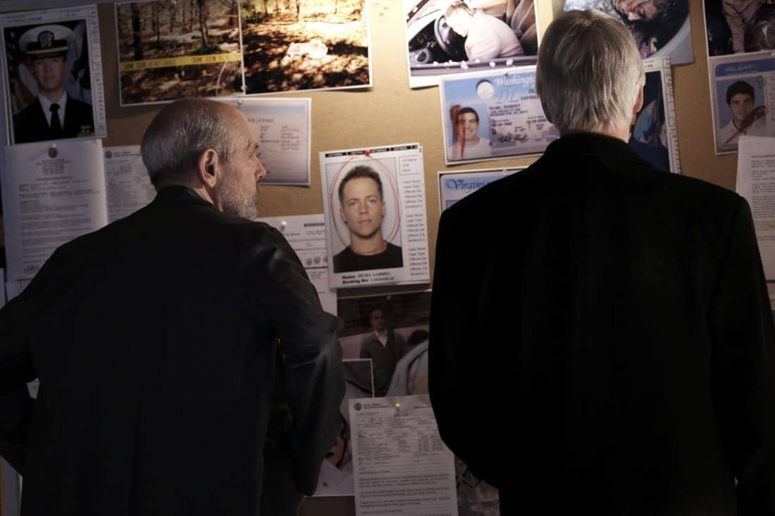 """Keep Your Enemies Closer"" -- NCIS strikes a deal with convicted murderer Paul Triff (French Stewart), giving him a 48-hour furlough at his former residence, now McGee's home, in exchange for information that can convict his former cellmate, Gabriel Hicks (Graham Hamilton), the murderer who deceived Gibbs and Fornell (Joe Spano), on NCIS, Tuesday, Feb. 27 (8:00-9:00 PM, ET/PT), on the CBS Television Network. Pictured: Joe Spano, Mark Harmon. Photo: Eddy Chen/CBS ©2018 CBS Broadcasting, Inc. All Rights Reserved"