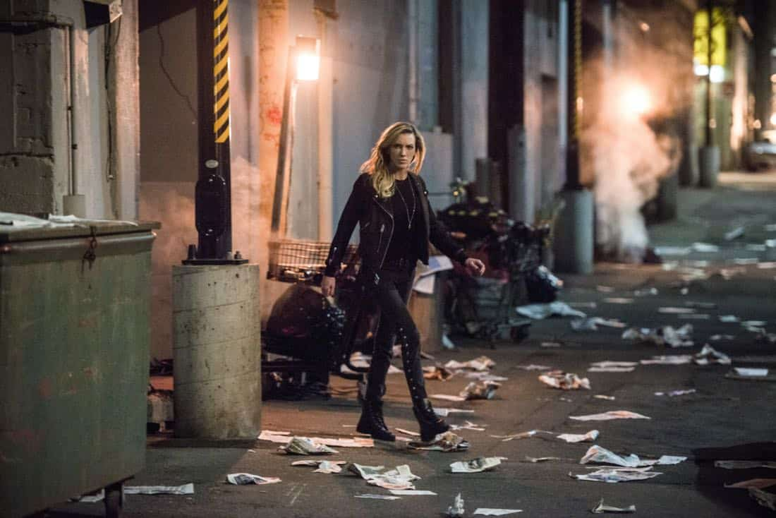 "Arrow -- ""The Devil's Greatest Trick"" -- Image Number: AR613b_0327.jpg -- Pictured: Katie Cassidy as Laurel/Black Siren -- Photo: Diyah Pera/The CW -- © 2018 The CW Network, LLC. All Rights reserved."