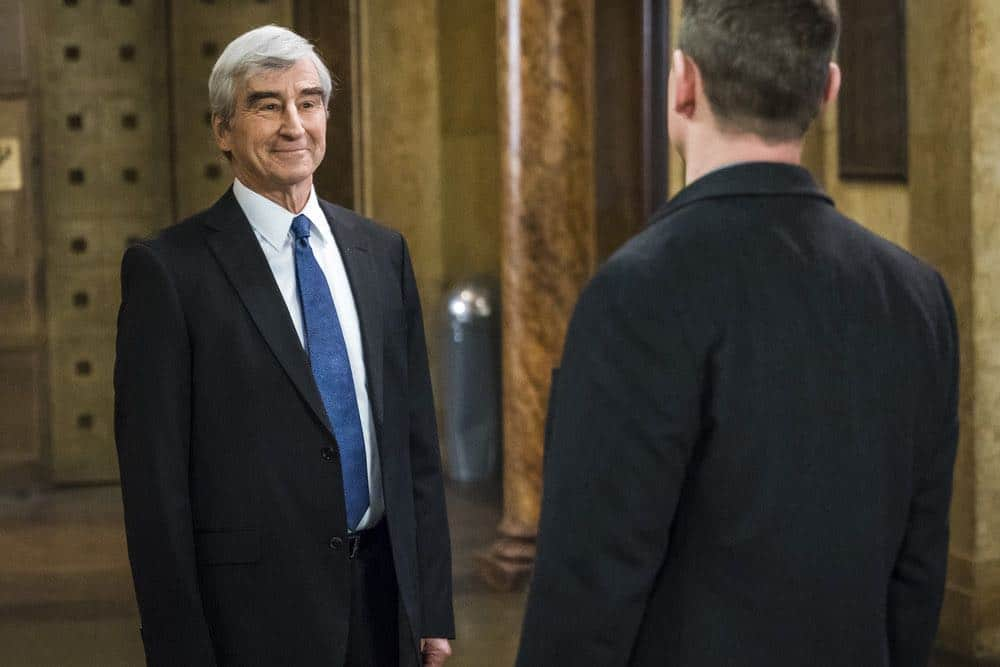 """LAW & ORDER: SPECIAL VICTIMS UNIT -- """"The Undiscovered Country"""" Episode 1913 -- Pictured: Sam Waterston as DA Jack McCoy -- (Photo by: Michael Parmelee/NBC)"""
