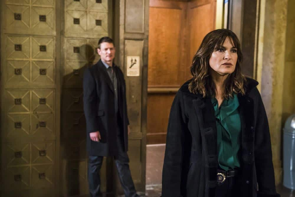 """LAW & ORDER: SPECIAL VICTIMS UNIT -- """"The Undiscovered Country"""" Episode 1913 -- Pictured: Mariska Hargitay as Lieutenant Olivia Benson -- (Photo by: Michael Parmelee/NBC)"""