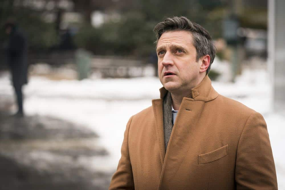 """LAW & ORDER: SPECIAL VICTIMS UNIT -- """"The Undiscovered Country"""" Episode 1913 -- Pictured: Raul Esparza as A.D.A. Rafael Barba -- (Photo by: Michael Parmelee/NBC)"""