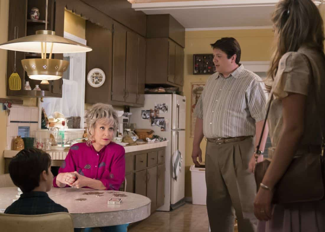 """""""Poker, Faith, and Eggs""""-- Pictured: Meemaw (Annie Potts) and George, Sr. (Lance Barber). When George Sr. is rushed to the emergency room, Meemaw (Annie Potts) comes to babysit, and the kids have an adventure getting to the hospital on their own, when YOUNG SHELDON airs, Thursday Nov. 9 (8:31-9:01 PM, ET/PT) on the CBS Television Network. Photo: Michael Desmond/Warner Bros. Entertainment Inc. © 2017 WBEI. All rights reserved."""