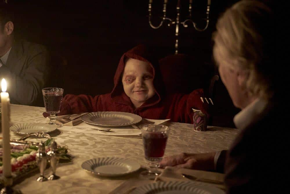 """CHANNEL ZERO: BUTCHER'S BLOCK -- """"Father Time"""" Episode 202 -- Pictured: Linden Porco as Smart Mouth -- (Photo by: Allen Fraser/Syfy)"""