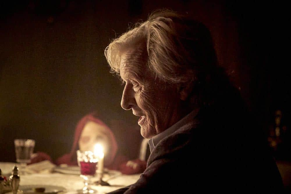 "CHANNEL ZERO: BUTCHER'S BLOCK -- ""Father Time"" Episode 202 -- Pictured: Rutger Hauer as Joseph Peach -- (Photo by: Allen Fraser/Syfy)"
