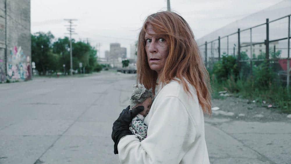 "CHANNEL ZERO: BUTCHER'S BLOCK -- ""Father Time"" Episode 202 -- Pictured: Paula Boudreau as Scissor Woman -- (Photo by: Syfy)"