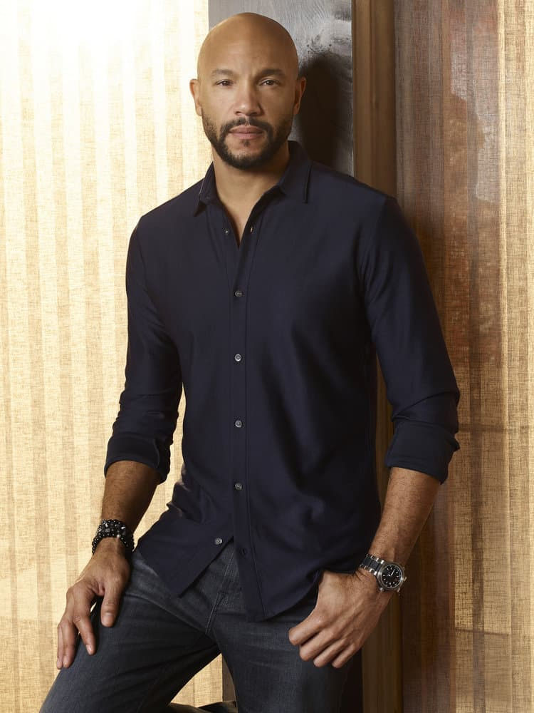 IMPOSTERS -- Season:2 -- Pictured: Stephen Bishop as Patrick -- (Photo by: Smallz & Raskind/Bravo)