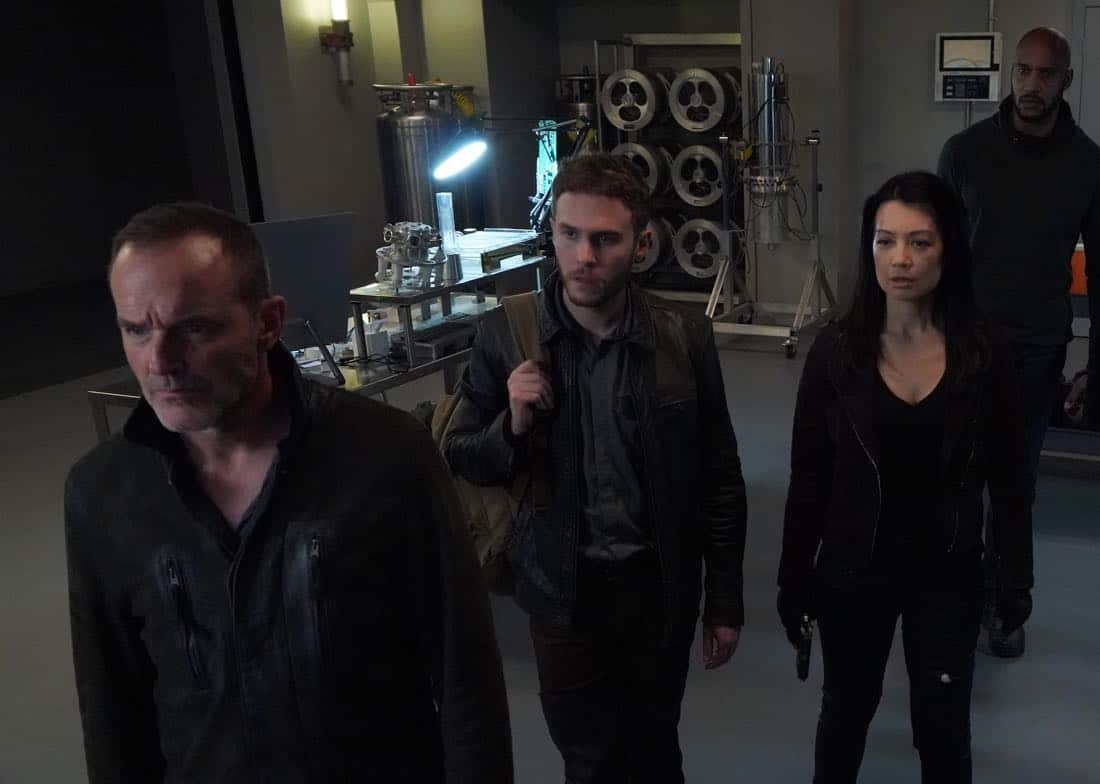 """MARVEL'S AGENTS OF S.H.I.E.L.D. - """"All the Comforts of Home"""" - Coulson and team set out to rewrite the course of humanity's fate, but they're unaware that their efforts will dramatically change one S.H.I.E.L.D agent's life, on """"Marvel's Agents of S.H.I.E.L.D.,"""" FRIDAY, MARCH 2 (9:01-10:01 p.m. EST), on The ABC Television Network. (ABC/Byron Cohen) CLARK GREGG, IAIN DE CAESTECKER, MING-NA WEN, HENRY SIMMONS"""