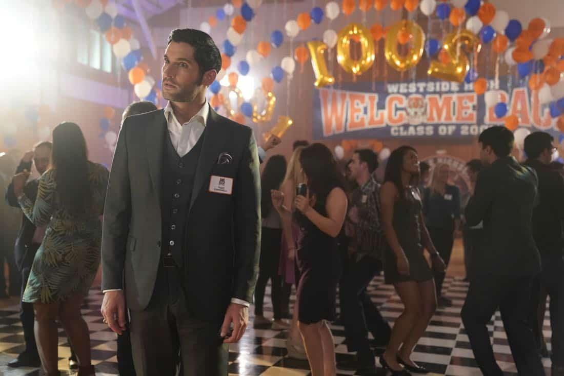 "LUCIFER: Tom Ellis in the ""High School Poppycock"" episode of LUCIFER airingMonday, Feb. 26 (8:00-9:00 PM ET/PT) on FOX. CR: Erik Voake/FOX"