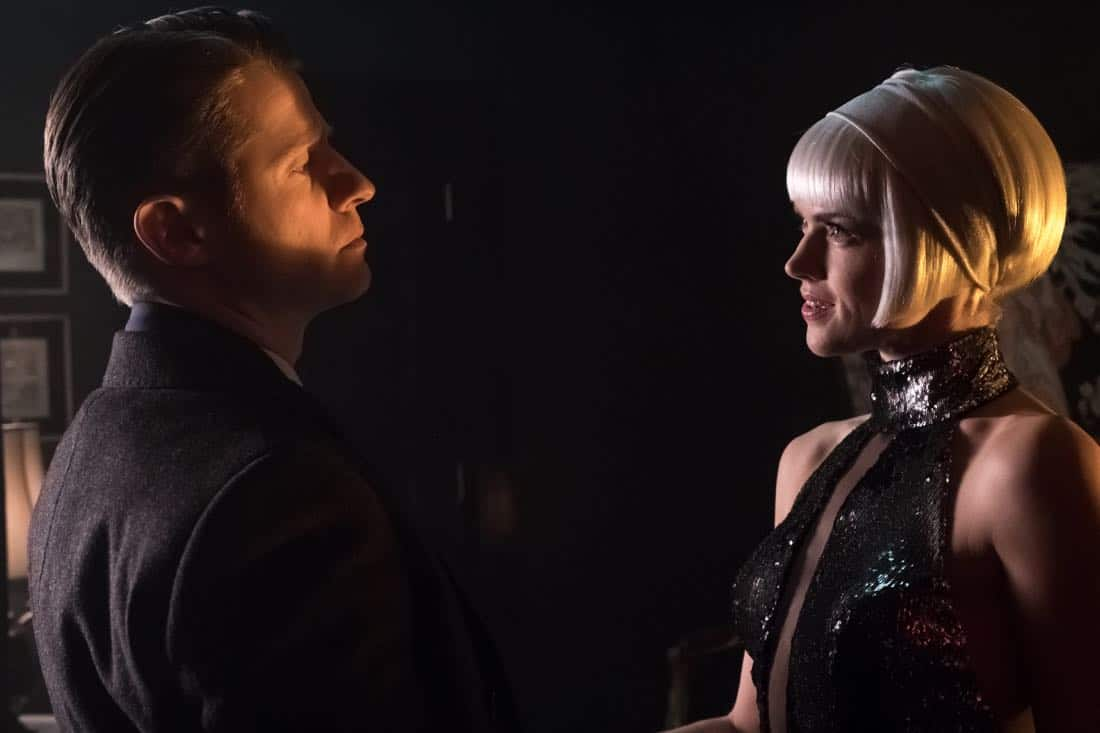 "GOTHAM: L-R: Ben McKenzie and Erin Richards in the ""Pieces Of A Broken Mirror"" spring premiere episode of GOTHAM airing Thursday, Mar. 1 (8:00-9:00 PM ET/PT) on FOX. ©2018 Fox Broadcasting Co. Cr: Jeff Neumann/FOX"