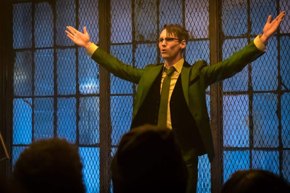 "GOTHAM: Cory Michael Smith in the ""Pieces Of A Broken Mirror"" spring premiere episode of GOTHAM airing Thursday, Mar. 1 (8:00-9:00 PM ET/PT) on FOX. ©2018 Fox Broadcasting Co. Cr: Jeff Neumann/FOX"