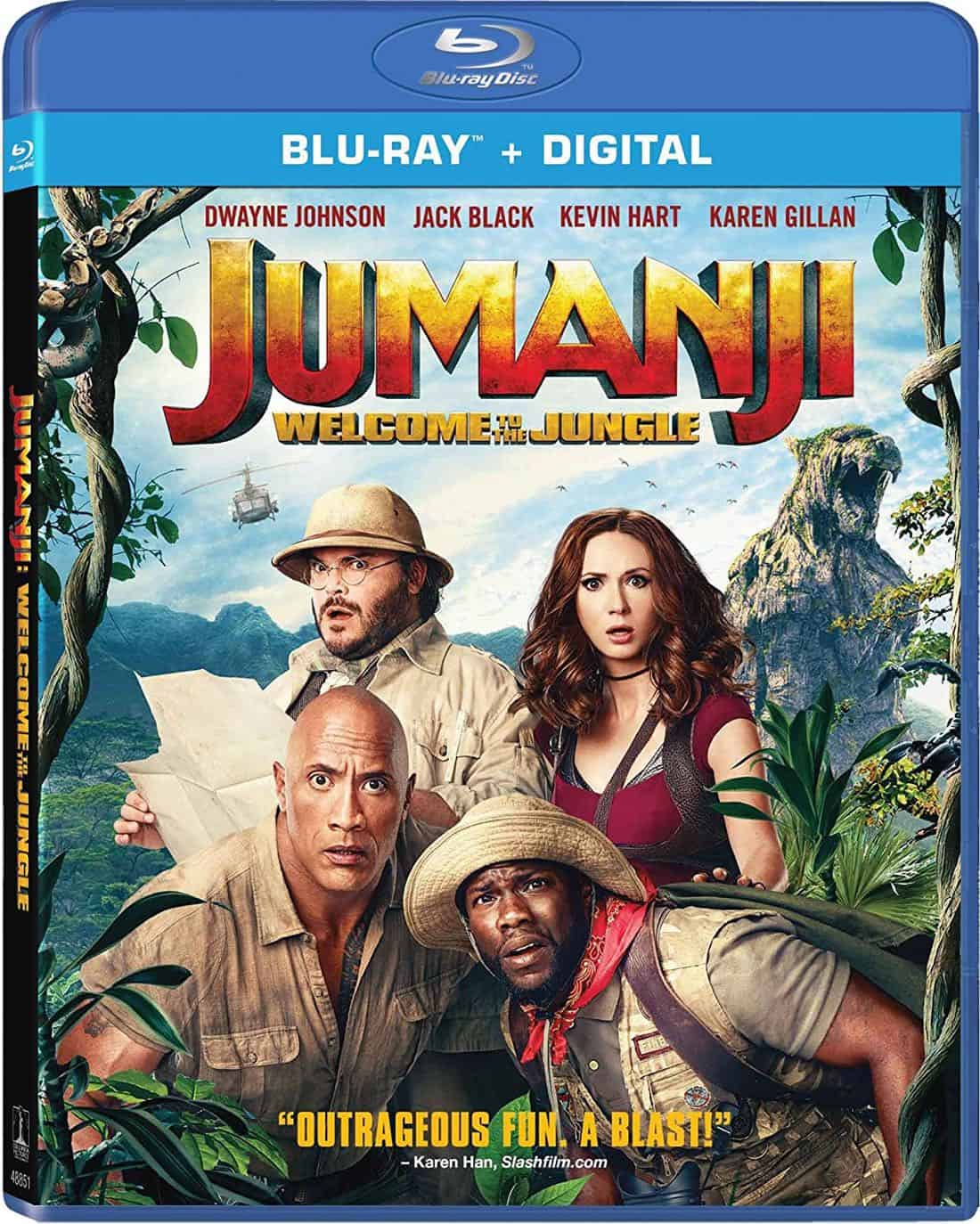 JUMANJI WELCOME TO THE JUNGLE Blu-ray + Digital