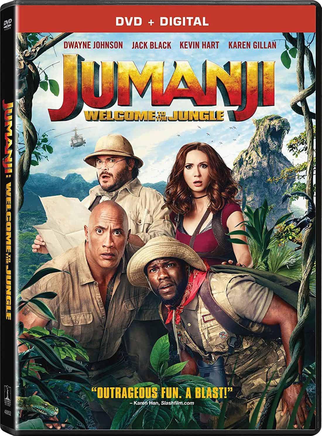 JUMANJI WELCOME TO THE JUNGLE DVD