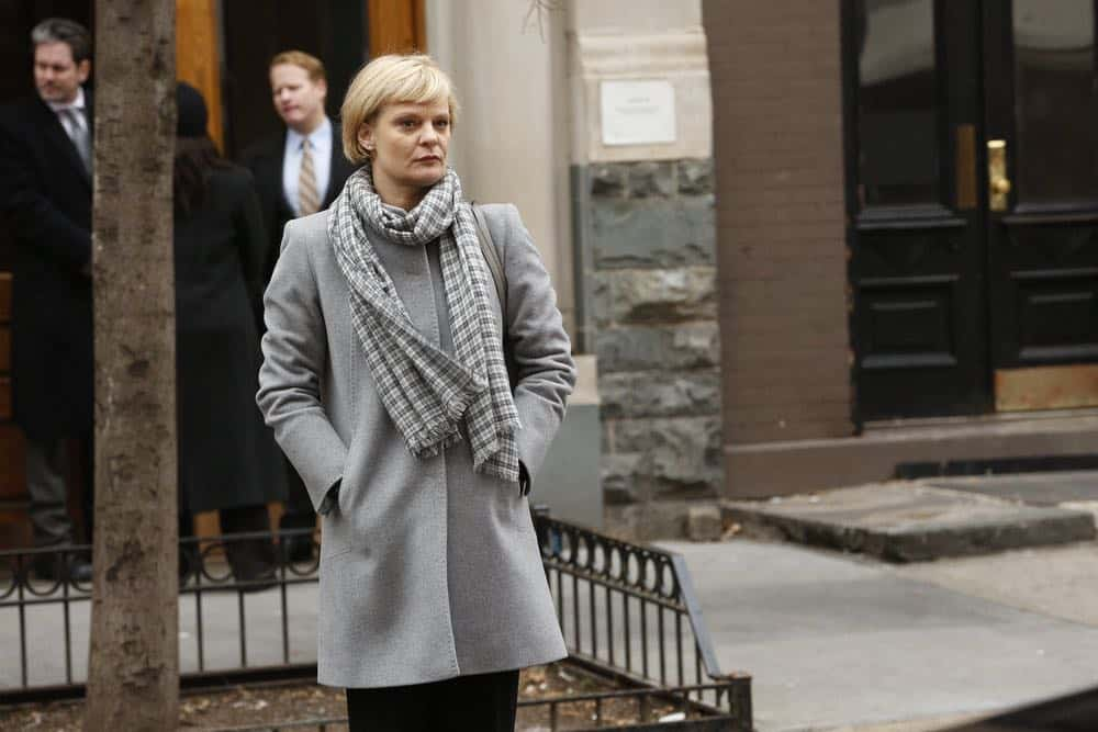 """THE BLACKLIST -- """"Mr. Raleigh Sinclair III (#51)"""" Episode 514 -- Pictured: Martha Plimpton as Dr. Sharon Fulton -- (Photo by: Will Hart/NBC)"""