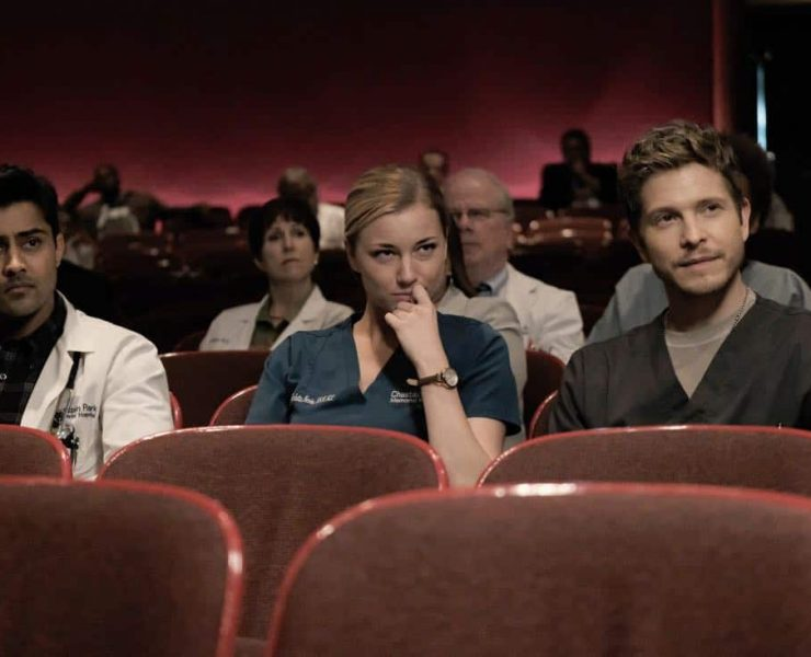 "THE RESIDENT: L-R: Manish Dayal, Emily VanCamp and Matt Czuchry in the ""None the Wiser"" episode of THE RESIDENT airing Monday, Feb. 26 (9:00-10:00 PM ET/PT) on FOX. ©2018 Fox Broadcasting Co. Cr: Guy D'Alema/FOX"