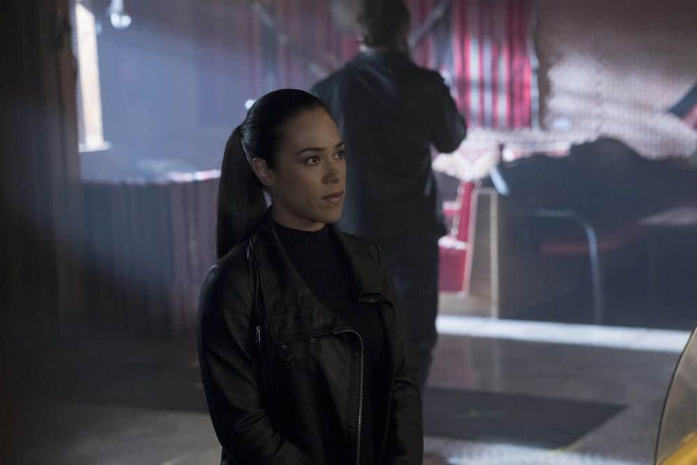 "TAKEN -- ""Absalom"" Episode 205 -- Pictured: Jessica Camacho as Santana -- (Photo by: Panagiotis Pantazidis/NBC)"