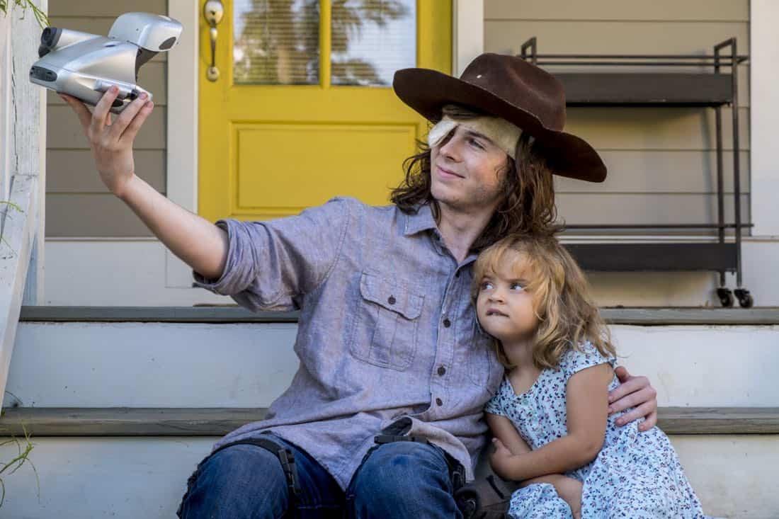 Chandler Riggs as Carl Grimes - The Walking Dead _ Season 8, Episode 9 - Photo Credit: Gene Page/AMC