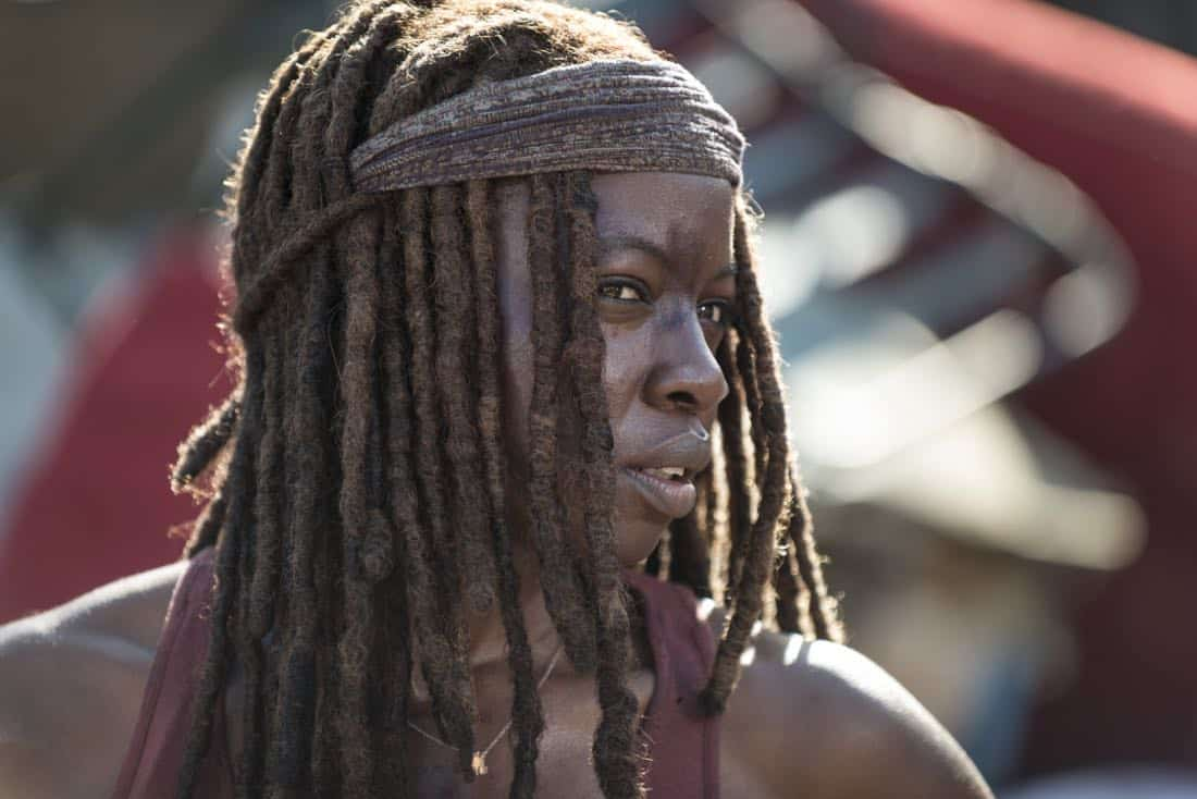 Danai Gurira as Michonne - The Walking Dead _ Season 8, Episode 10 - Photo Credit: Gene Page/AMC