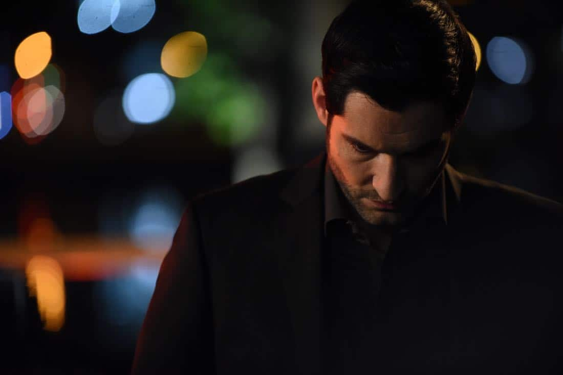 "LUCIFER: Tom Ellis in the""Infernal Guinea Pig"" episode of LUCIFER airing Monday, March 5 (8:00-9:00 PM ET/PT) on FOX. CR: Ray Mickshaw/FOX"