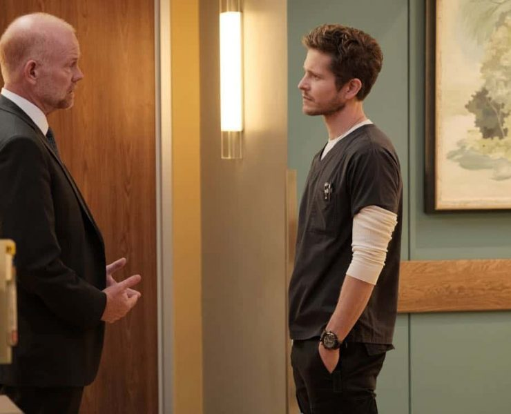 """THE RESIDENT: L-R: Guest star Glenn Morshower and Matt Czuchry in the """"No Matter The Cost"""" episode of THE RESIDENT airing Monday, March 5 (9:00-10:00 PM ET/PT) on FOX. ©2018 Fox Broadcasting Co. Cr: Guy D'Alema/FOX"""