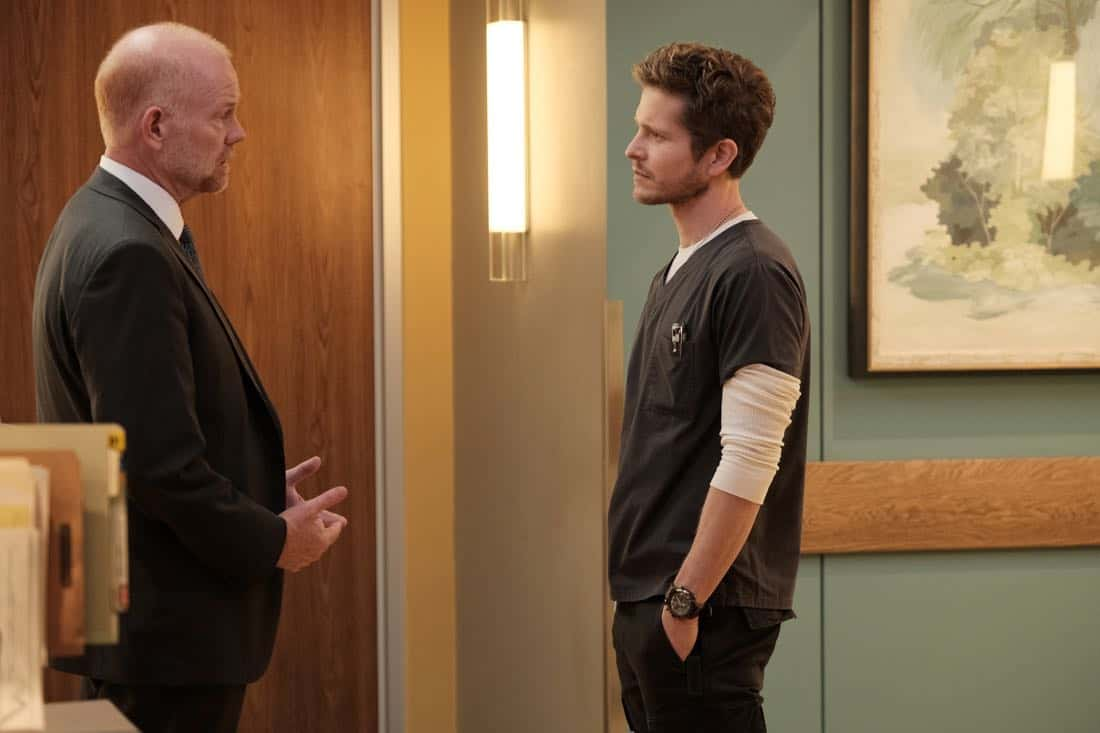 "THE RESIDENT:  L-R:  Guest star Glenn Morshower and Matt Czuchry in the ""No Matter The Cost"" episode of THE RESIDENT airing Monday, March 5 (9:00-10:00 PM ET/PT) on FOX.  ©2018 Fox Broadcasting Co.  Cr:  Guy D'Alema/FOX"