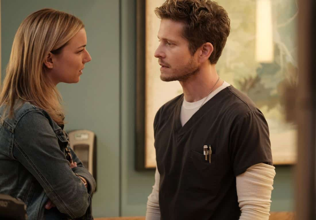 "THE RESIDENT:  L-R:  Emily VanCamp and Matt Czuchry in the ""No Matter The Cost"" episode of THE RESIDENT airing Monday, March 5 (9:00-10:00 PM ET/PT) on FOX.  ©2018 Fox Broadcasting Co.  Cr:  Guy D'Alema/FOX"
