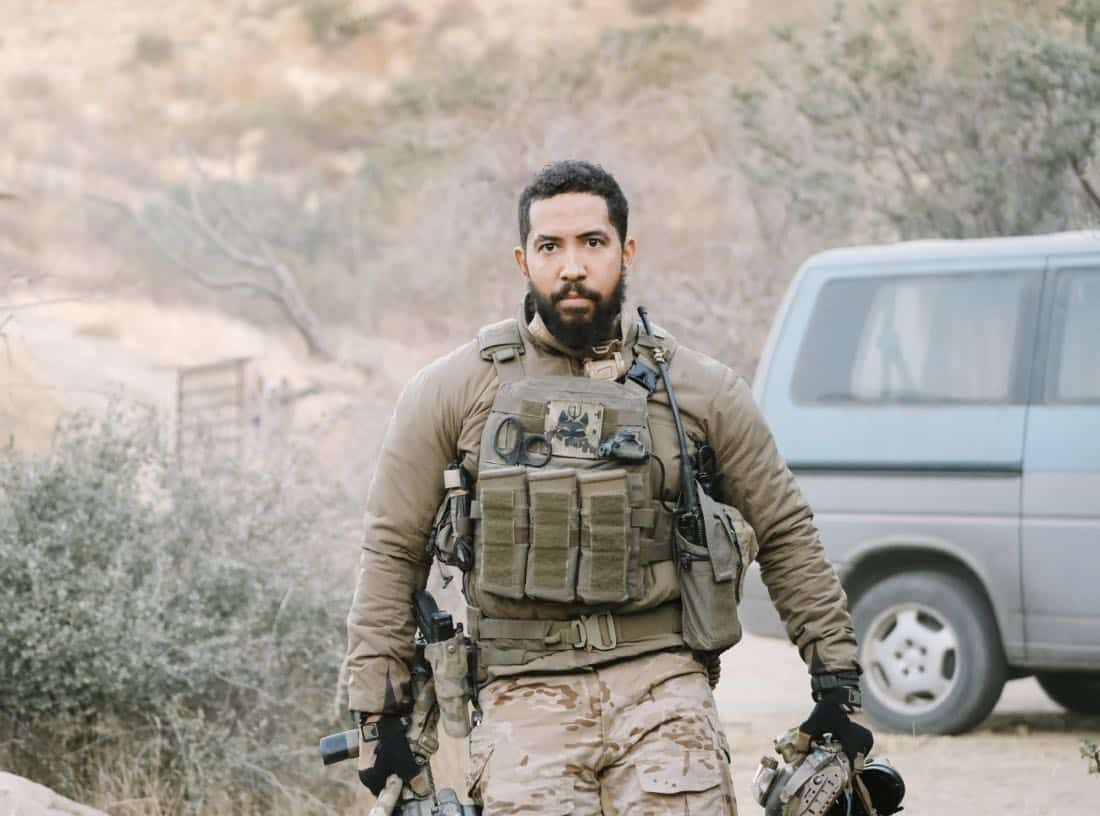 No Mans Land, Jason and the SEAL Team close in on avenging the deaths of Echo Team when they find the money that funded their murder on a nearby poppy farm that was previously used to make heroin. Also, Jason meets an intriguing woman on the base, on SEAL TEAM, Wednesday, March 7 (9:01-10:00 PM, ET/PT) on the CBS Television Network. Pictured: Neil Brown Jr. as Ray Perry. Photo: Eddy Chen/CBS ©2018 CBS Broadcasting, Inc. All Rights Reserved