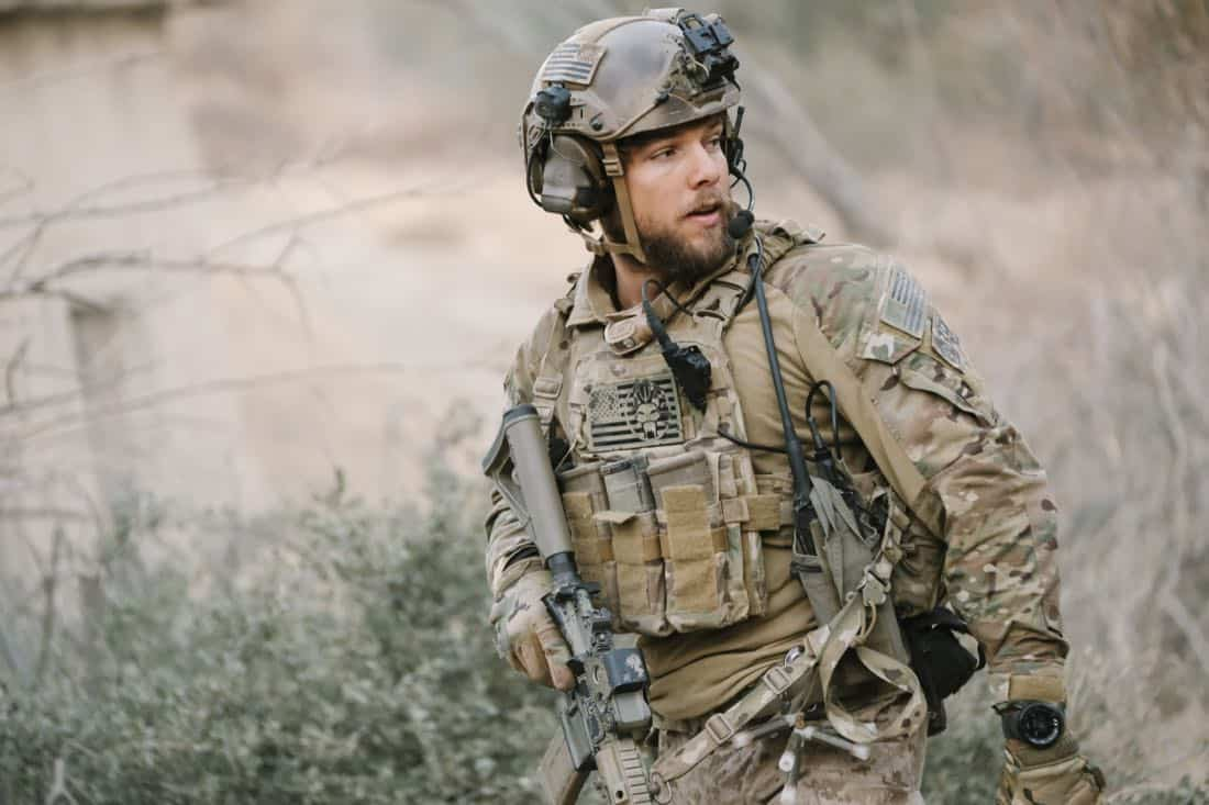 No Mans Land, Jason and the SEAL Team close in on avenging the deaths of Echo Team when they find the money that funded their murder on a nearby poppy farm that was previously used to make heroin. Also, Jason meets an intriguing woman on the base, on SEAL TEAM, Wednesday, March 7 (9:01-10:00 PM, ET/PT) on the CBS Television Network. Pictured: Max Thieriot as Clay Spenser. Photo: Eddy Chen/CBS ©2018 CBS Broadcasting, Inc. All Rights Reserved