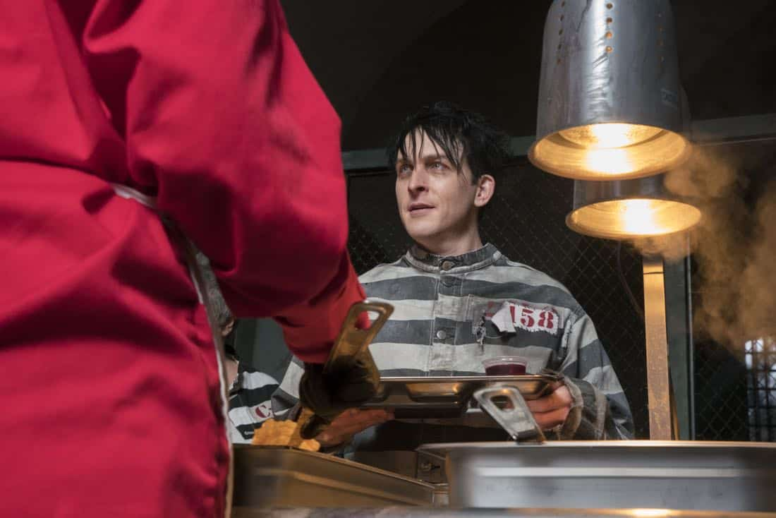 """GOTHAM: Robin Lord Taylor in the """"A Dark Knight: A Beautiful Darkness"""" episode of GOTHAM airing Thursday, March 8 (8:00-9:00 PM ET/PT) on FOX.  ©2018 Fox Broadcasting Co. Cr: Barbara Nitke/FOX"""