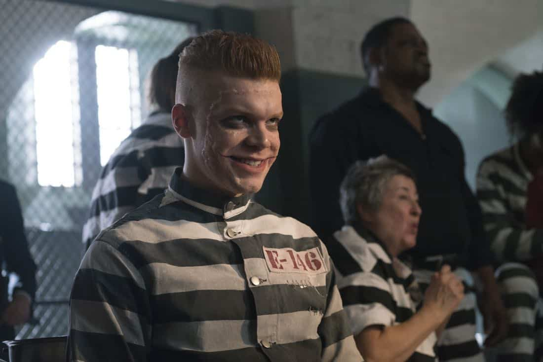 "GOTHAM: Guest star Cameron Monaghan in the ""A Dark Knight: A Beautiful Darkness"" episode of GOTHAM airing Thursday, March 8 (8:00-9:00 PM ET/PT) on FOX.  ©2018 Fox Broadcasting Co. Cr: Barbara Nitke/FOX"