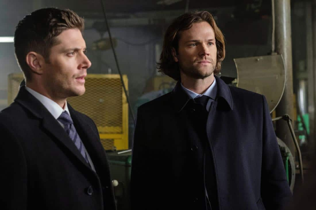 "Supernatural -- ""A Most Holy Man"" -- Image Number: SN1315a_0113b.jpg -- Pictured (L-R): Jensen Ackles as Dean and Jared Padalecki as Sam -- Photo: Robert Falconer/The CW -- © 2018 The CW Network, LLC All Rights Reserved"