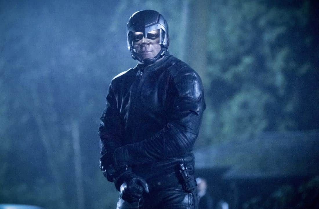 """Arrow -- """"Collision Course"""" -- Image Number: ARR614a_0234.jpg -- Pictured: David Ramsey as John Diggle/Spartan -- Photo: Dean Buscher/The CW -- © 2018 The CW Network, LLC. All rights reserved."""