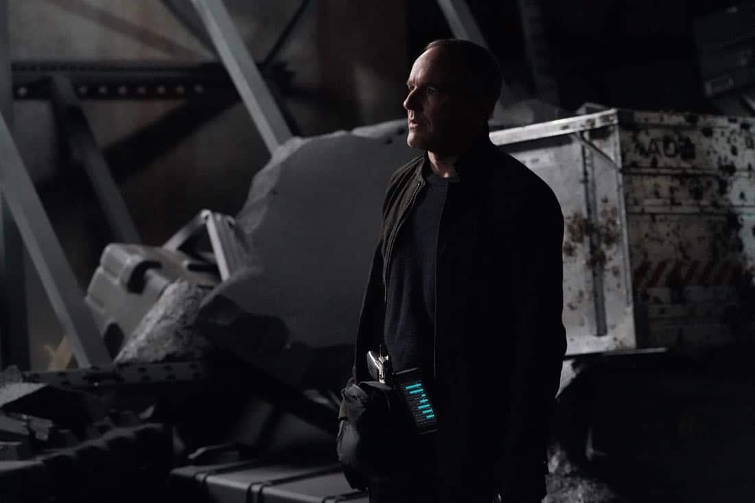 """MARVEL'S AGENTS OF S.H.I.E.L.D. - """"The Real Deal"""" - In the milestone 100th episode, Coulson finally reveals the mysterious deal he made with Ghost Rider, which will impact everyone on the S.H.I.E.L.D. team., on """"Marvel's Agents of S.H.I.E.L.D.,"""" FRIDAY, MARCH 9 (9:01-10:01 p.m. EST), on The ABC Television Network. (ABC/Byron Cohen) CLARK GREGG"""